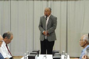 平成24年度 高崎地区敬老会 竹谷議員さんのご祝辞