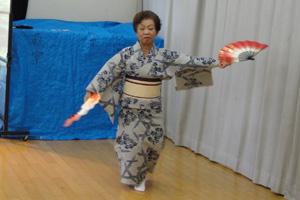 平成24年度 高崎地区敬老会 阿部美貴子さんの舞踊