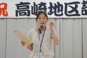 平成24年度 高崎地区敬老会 市役所職員による健康講話